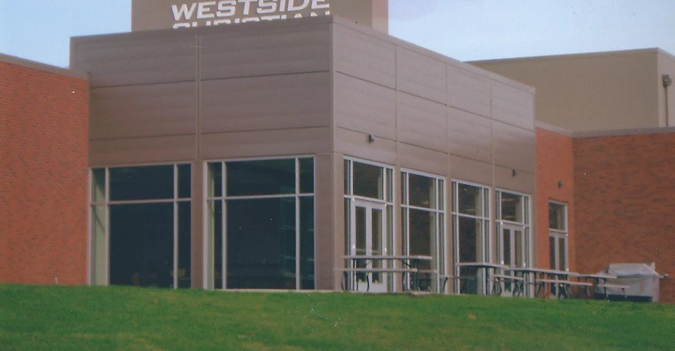 Westside Chritian School exterior painting