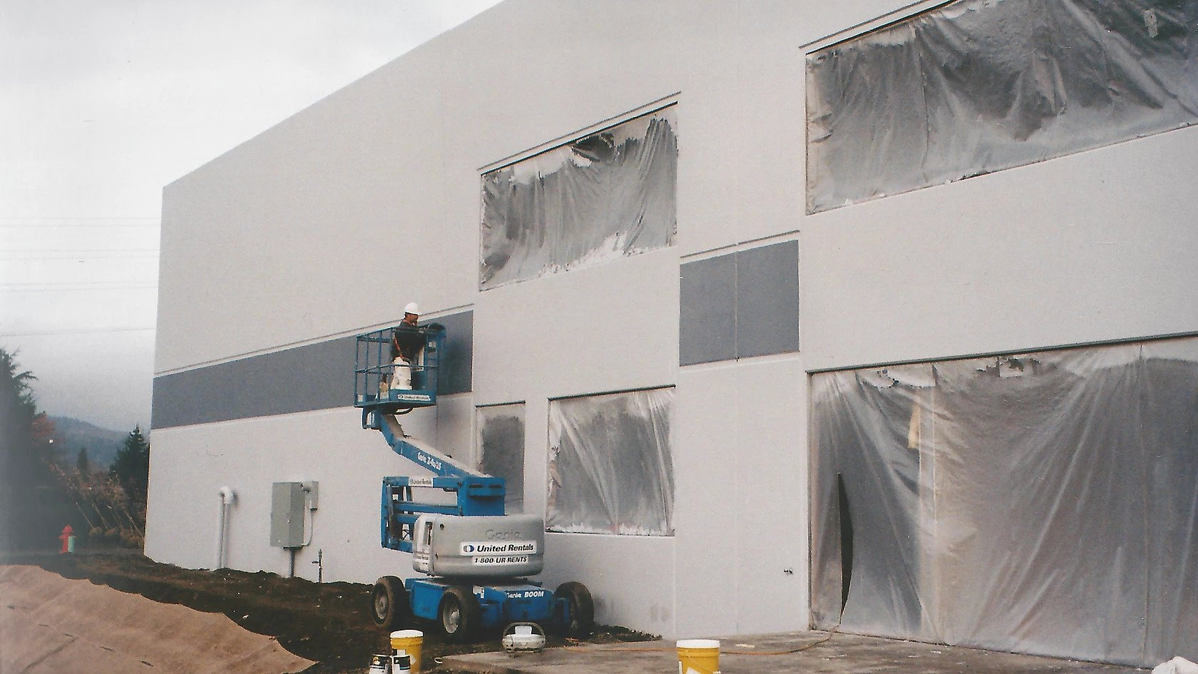 Chins Import exterior warehouse painting