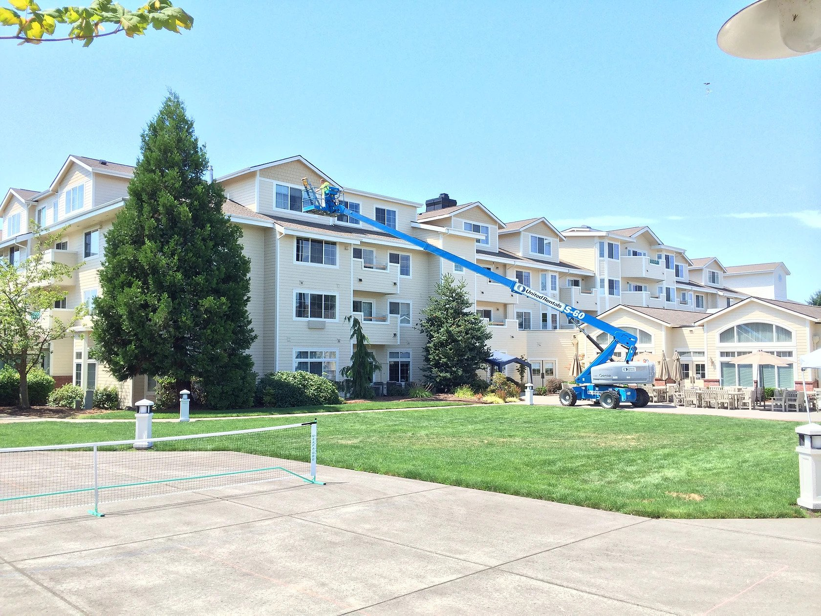Touchmark exterior apartment painting